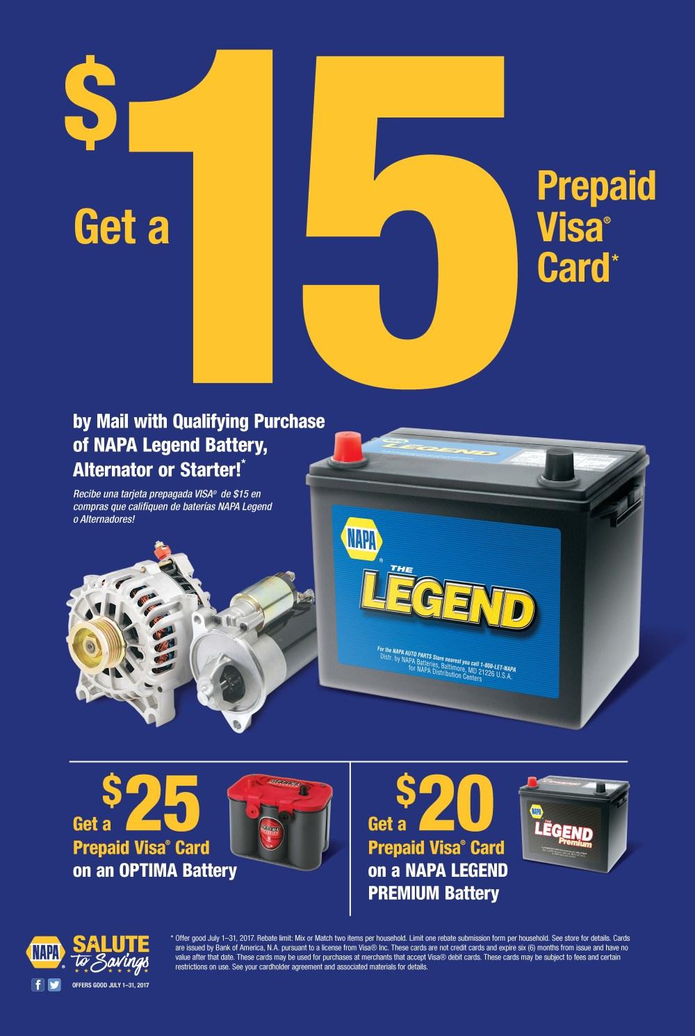 Napa coupon battery