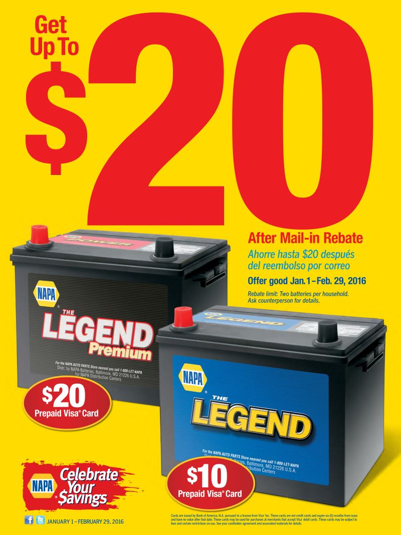Wilsons Napa Auto Parts - Battery Special