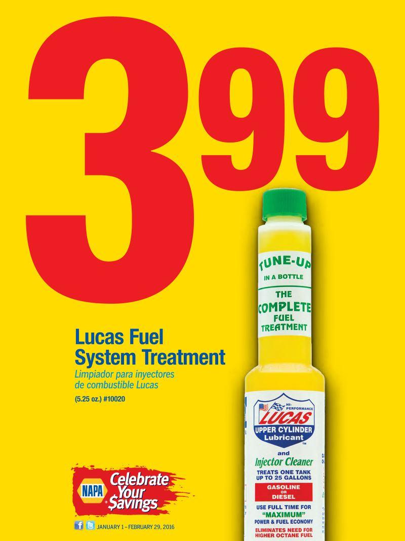 Wilsons Napa Auto Parts - Lucas Fuel Treatment Special