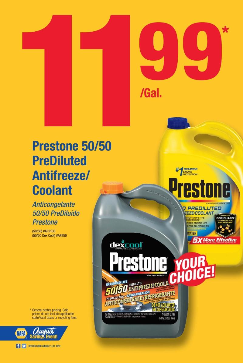 Wilsons Napa Auto Parts - PRESTONE