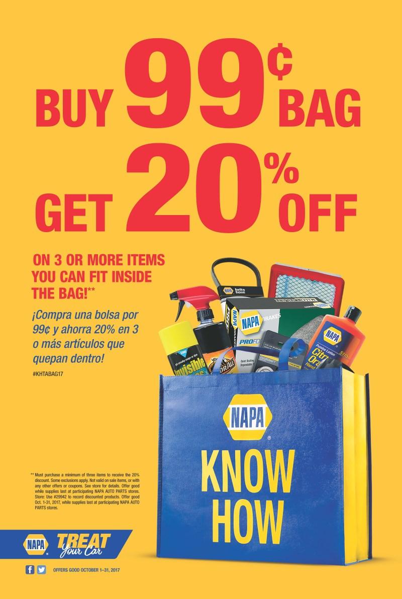 Wilsons Napa Auto Parts - BUY BAG