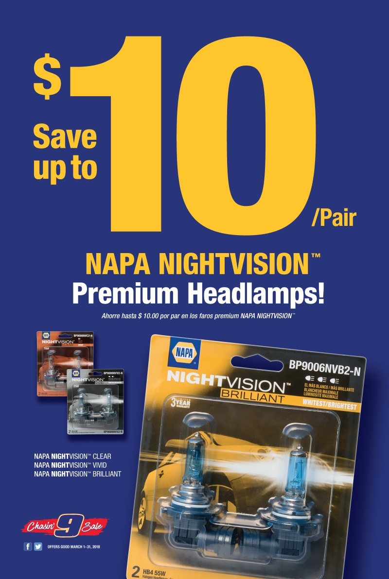 Wilsons Napa Auto Parts - HEAD LAMPS