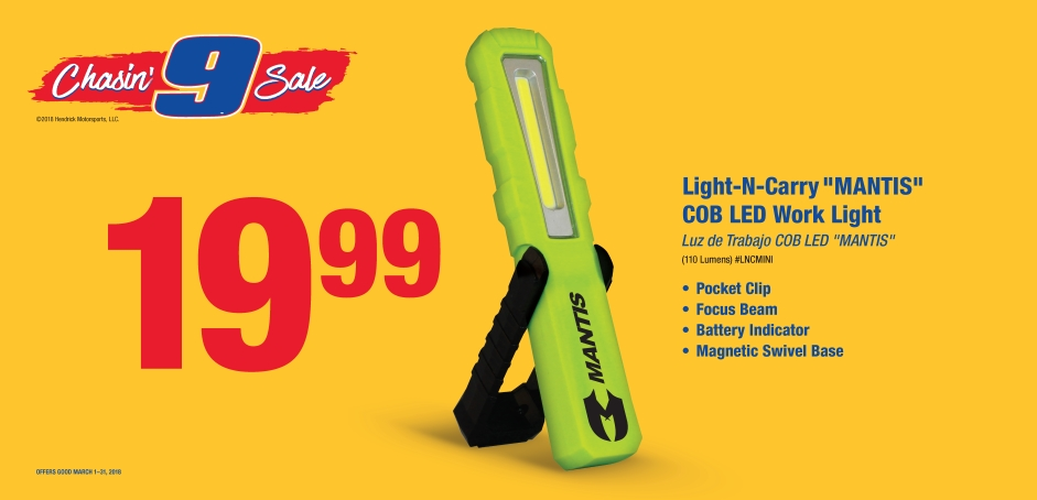 Wilsons NAPA Auto Parts - Work Light