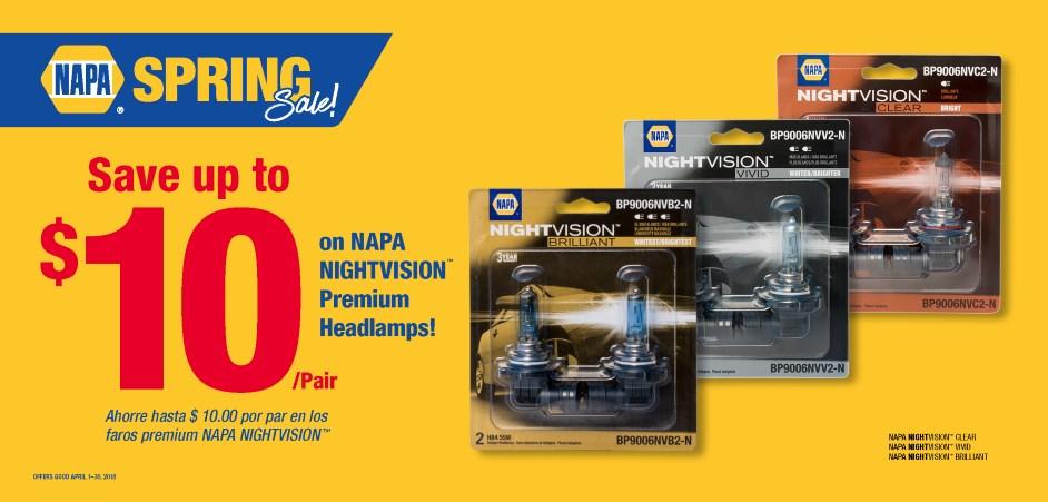 Wilsons NAPA Auto Parts - HEADLAMPS