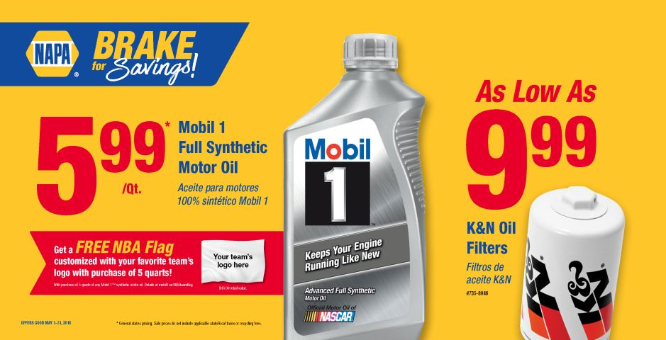Wilsons NAPA Auto Parts -OIL AND FILTERS