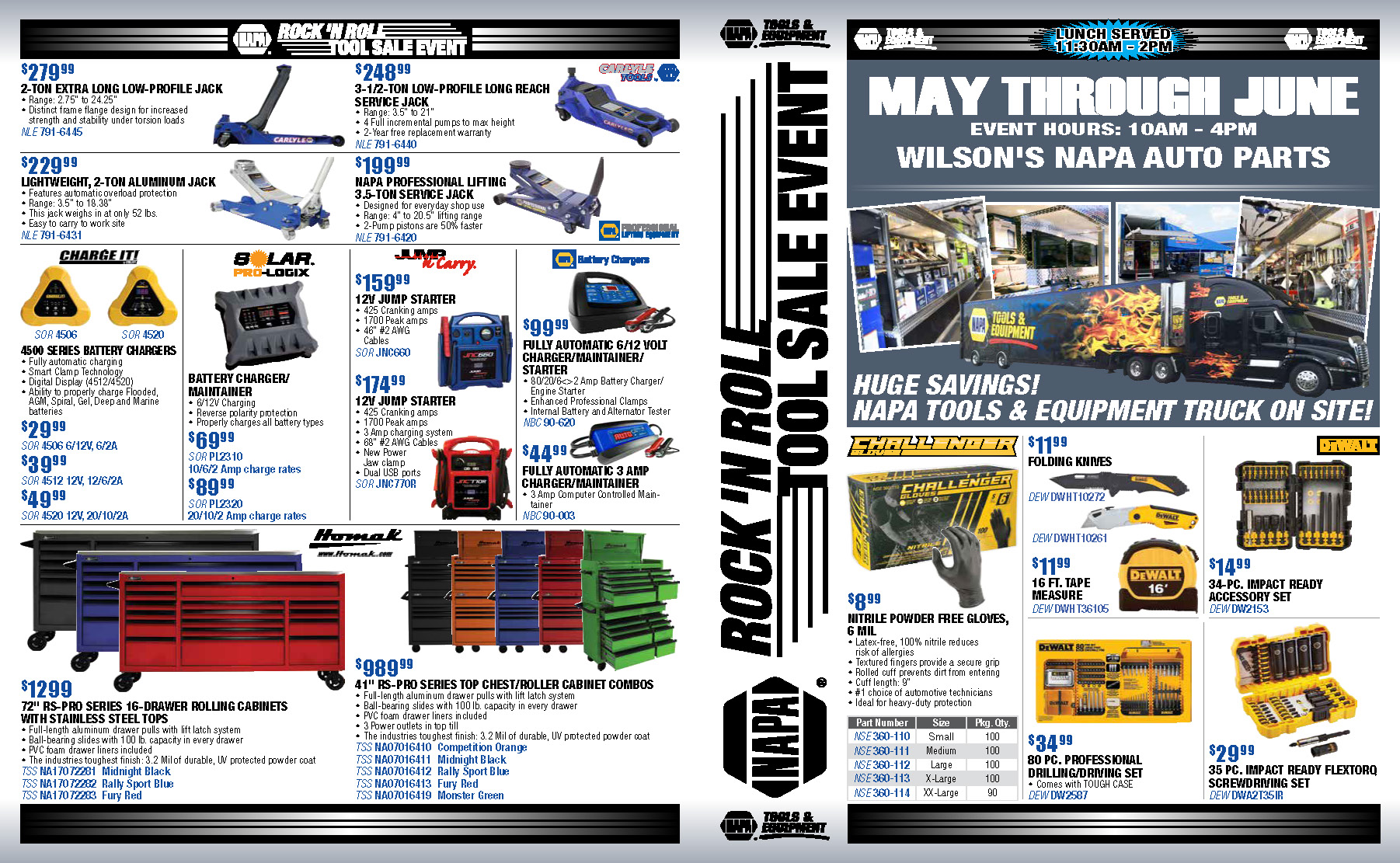 MAY /JUNE NAPA TOOL SALE EVENT IS HERE!!!! | Wilsons NAPA