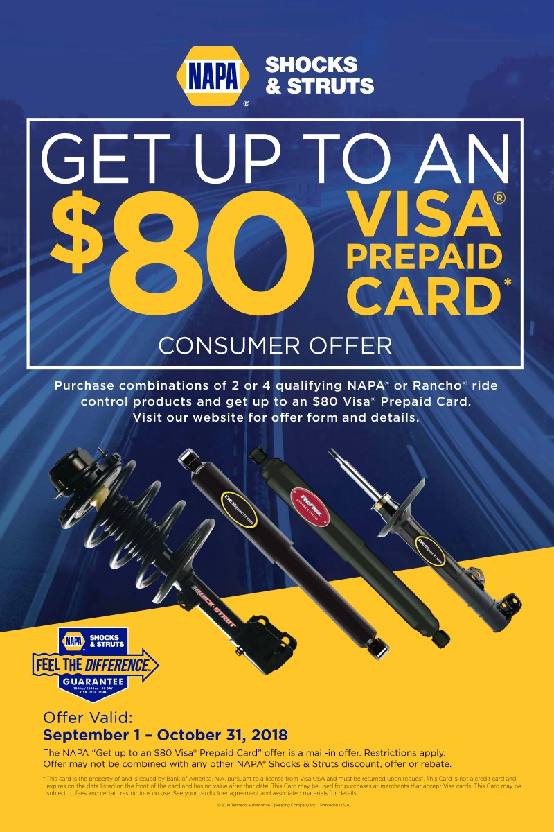 Wilsons Napa Auto Parts - VISA CARD