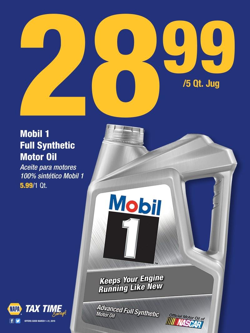 Wilsons Napa Auto Parts - Mobil oil