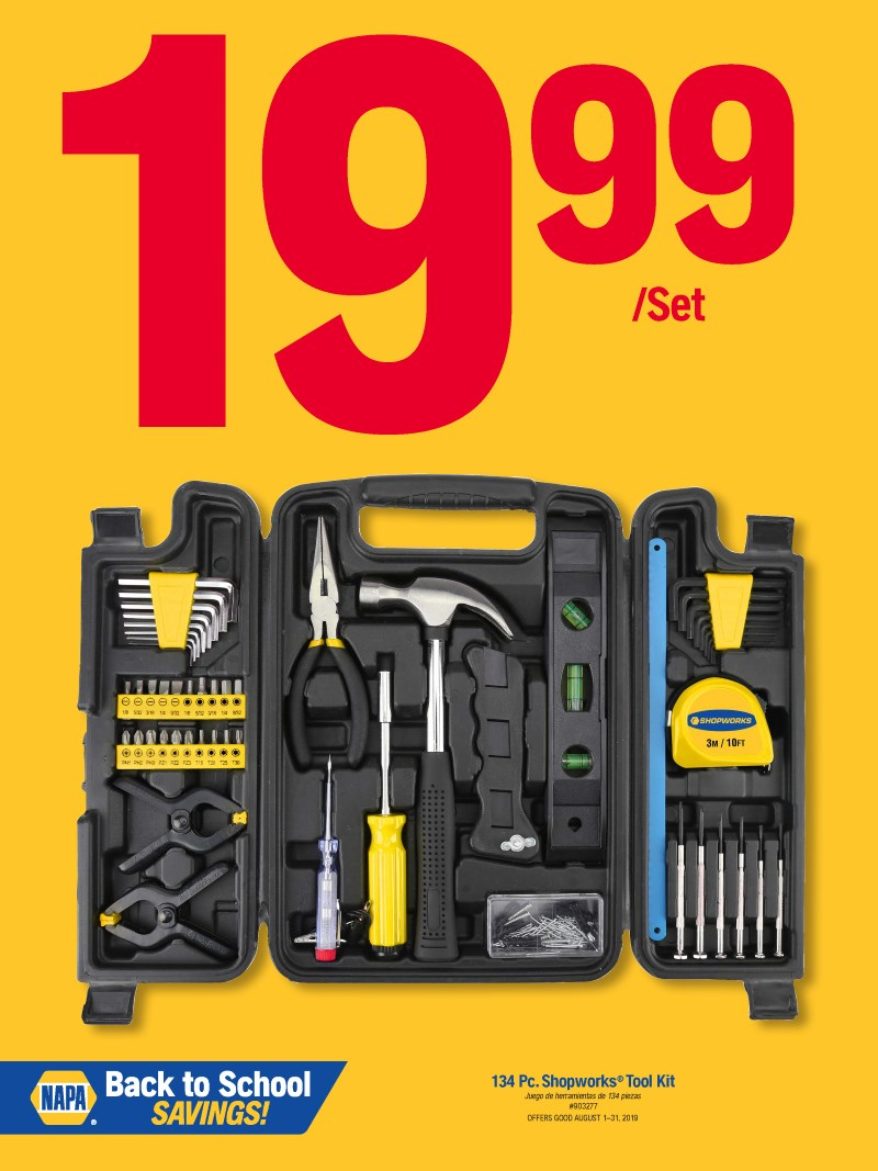 Wilsons Napa Auto Parts - toolkit