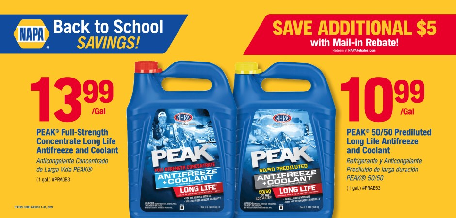 Wilsons NAPA Auto Parts - antifreeze