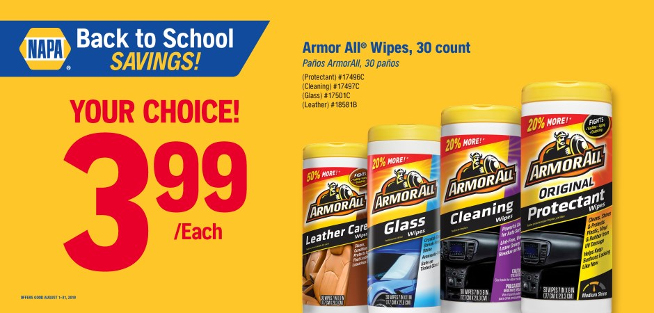 Wilsons NAPA Auto Parts - armor all