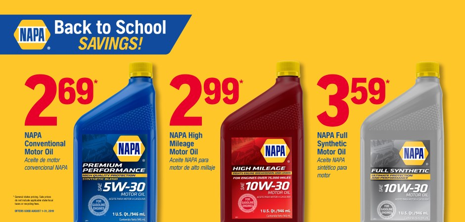 Wilsons NAPA Auto Parts - napa oil