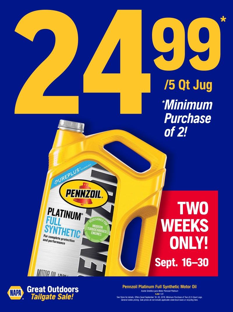 Wilsons Napa Auto Parts - Pennzoil Synthetic