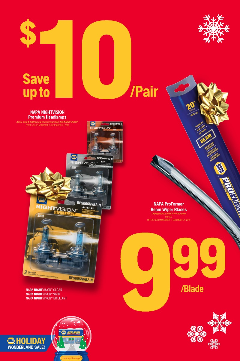 Wilsons Napa Auto Parts - lamps wipers