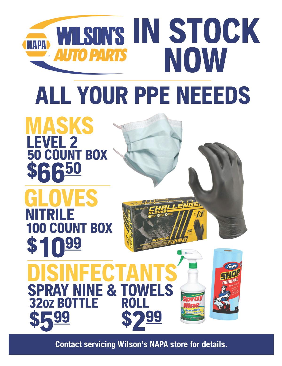 TWGW Wilsons NAPA PPE Sale