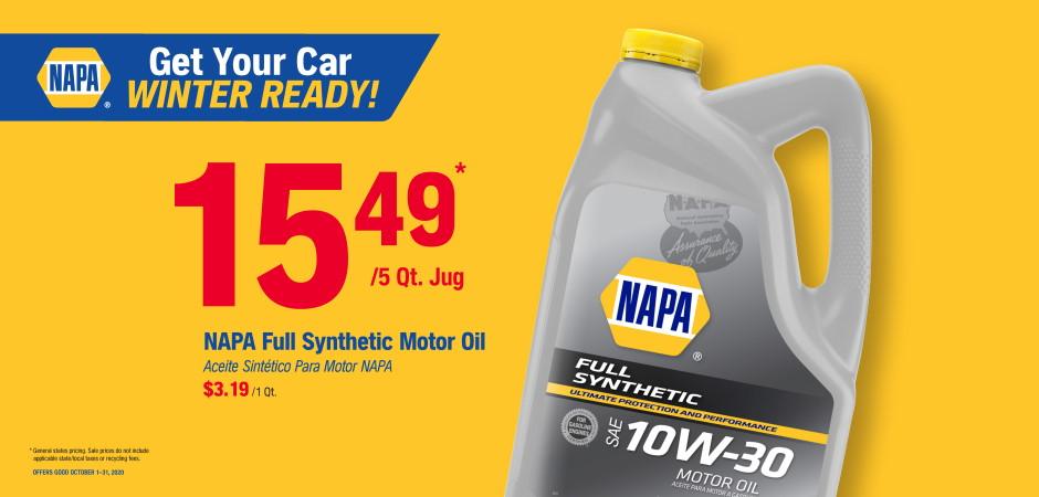 Wilsons NAPA Auto Parts - oil2
