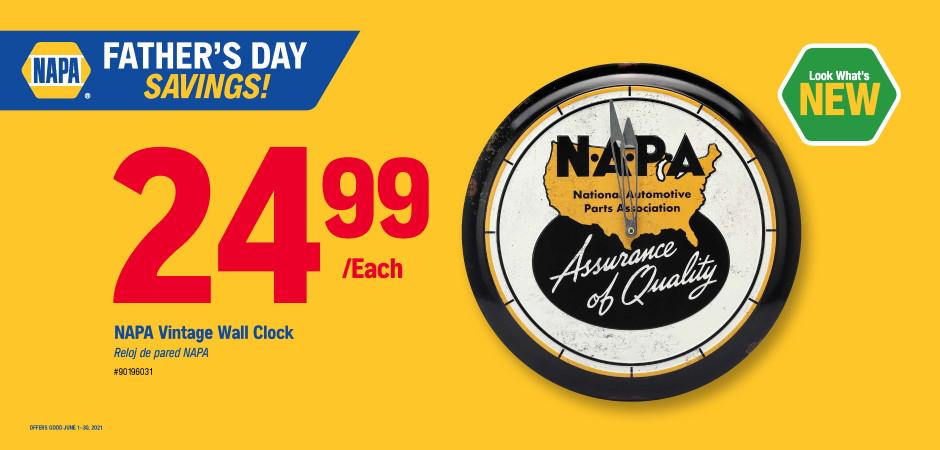 Wilsons NAPA Auto Parts - clock