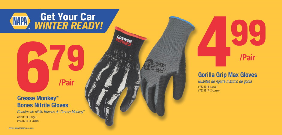 Wilsons NAPA Auto Parts - gloves
