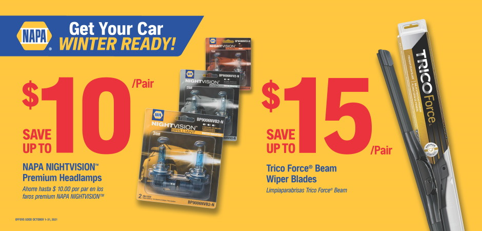 Wilsons NAPA Auto Parts - winter ready