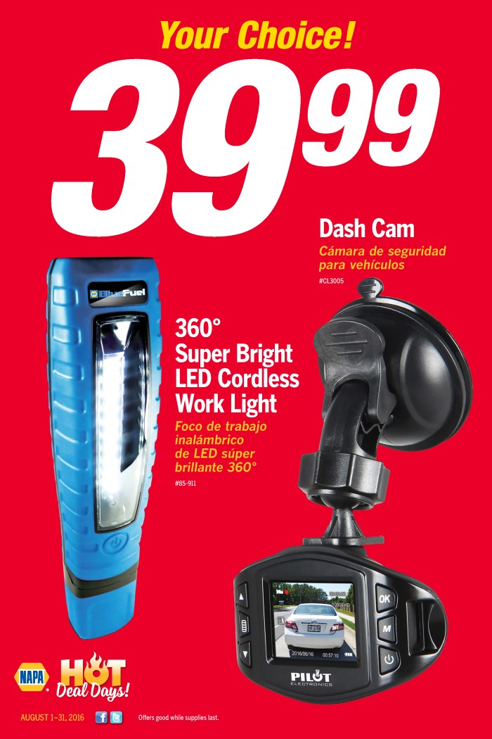 Wilsons Napa Auto Parts - Cam and Light