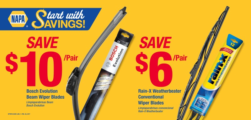 Wilsons Napa Auto Parts - Wipers