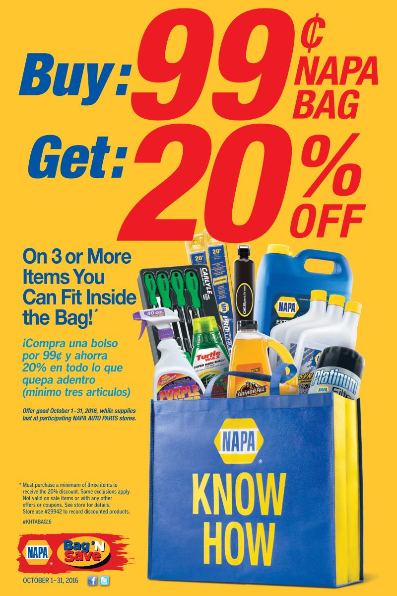 Wilsons Napa Auto Parts - KNOW-HOW-Bag