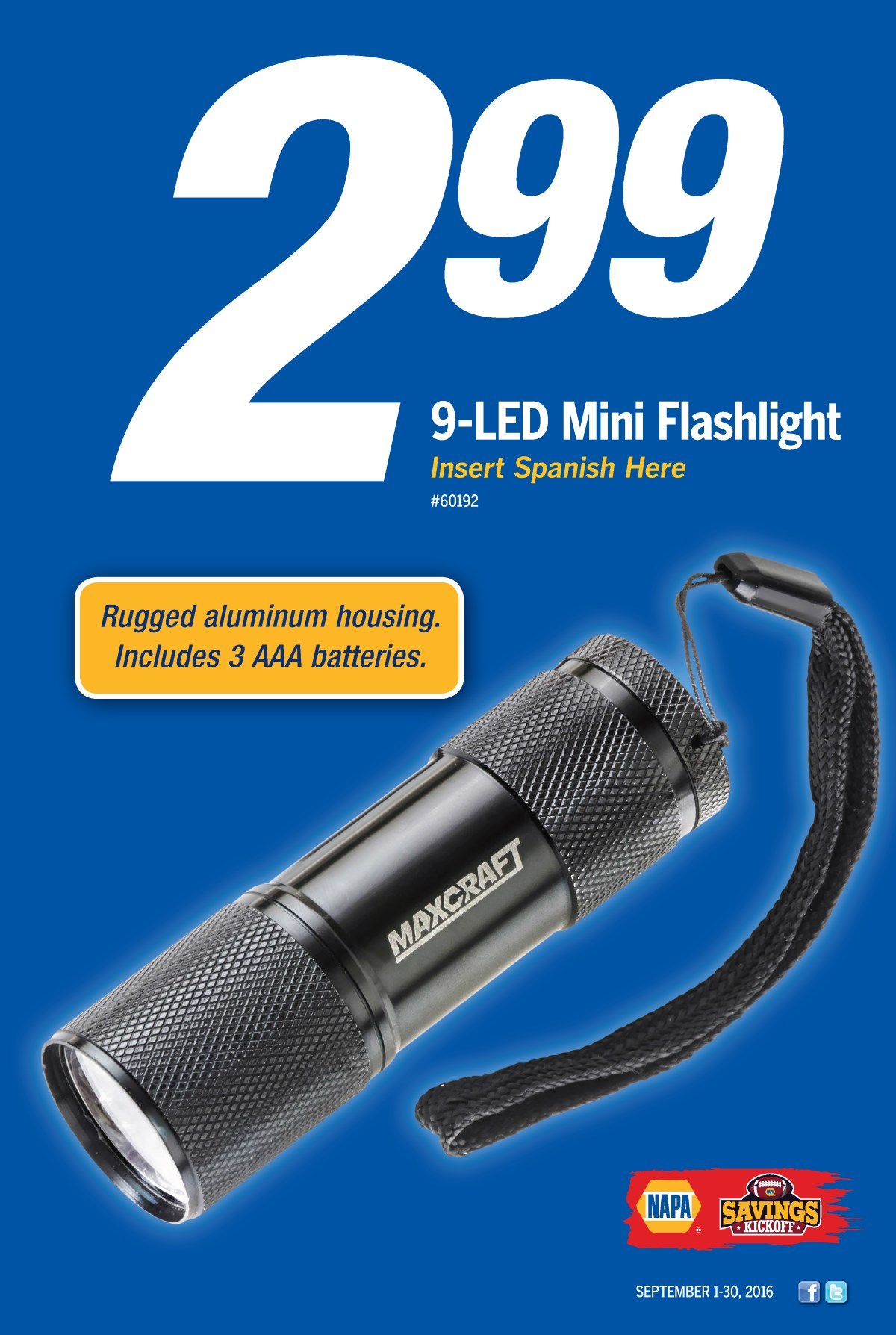 Wilsons Napa Auto Parts - FLASHLIGHT